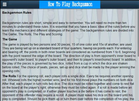 how to play backgammon a app shopper how to play backgammon learn backgammon