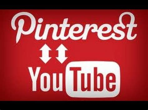 add  youtube video  pinterest youtube