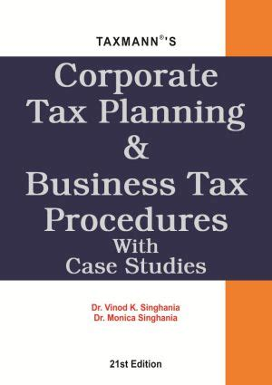 Mba 3rd Sem Books by Corporate Tax Planning Business Tax Procedures With