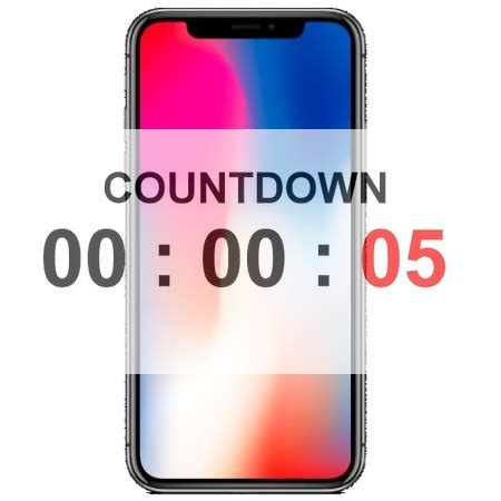 Iphone Countdown Start To Line Up live countdown timer for iphone x pre order start