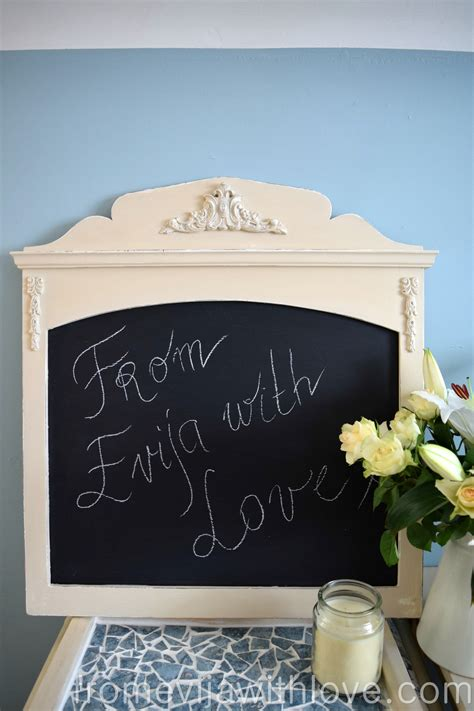 chalk paint on mdf diy shabby chic chalk board using decorative mouldings