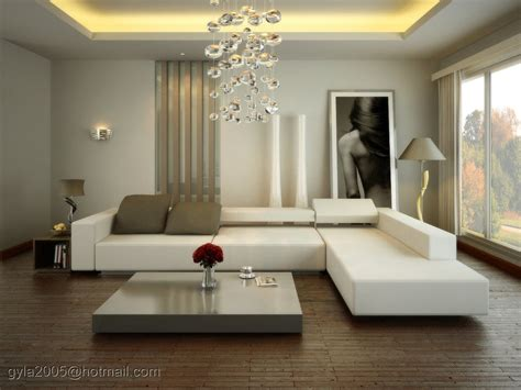 contemporary white living room at spacious modern living