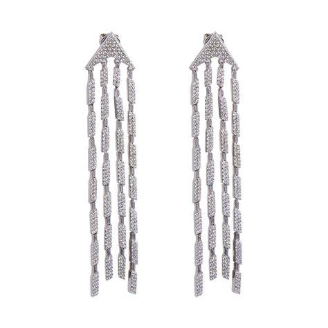 Cubic Drop Earring cubic zirconia silver drop earrings sarahgargash