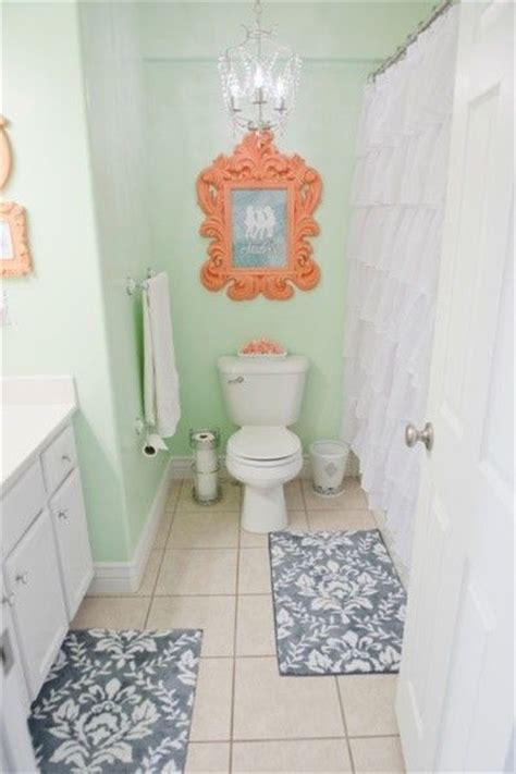 navy and green bathroom coral navy coral and mint bathroom on
