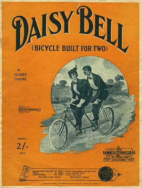 daisy bell a bicycle built for two harry dacre lyrics list of songs about bicycles wikipedia