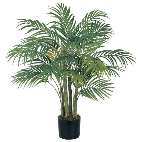 plant home 3 foot artificial areca palm tree potted 5000