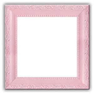 baby light pastel pink solid wood photo picture frame