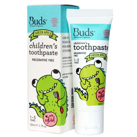 Buds Childrens Toothpaste 50ml 1 3 Year Blackcurrant T2909 buds oralcare organics children s toothpaste with xylitol