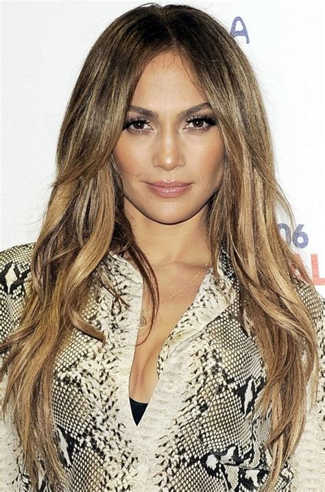 jennifer lopez hairstyles layered straight haircut for
