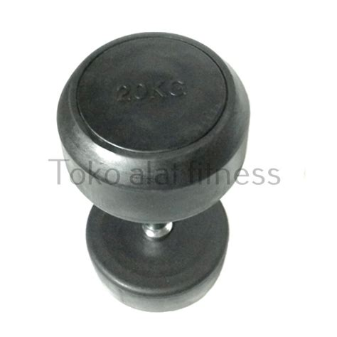 Dumbell Fix Rubber 5kg dumbell fix rubber 20kg toko alat fitness
