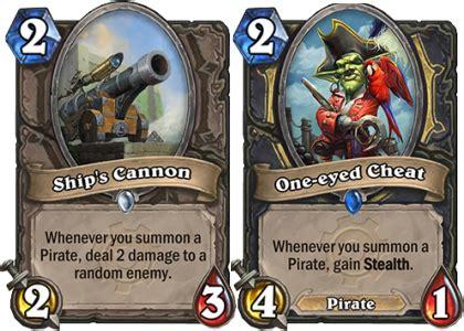 Hearthstone Pirate Deck by Hearthstone Favorite Goblins Vs Gnomes Cards Glimpsing