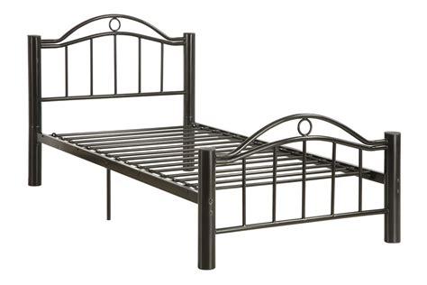 Black Metal Frame Youth Bed In Twin Or Full Huntington Bed Metal Frame