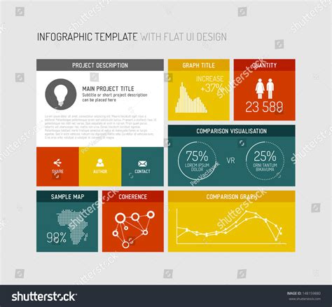 vector flat user interface ui infographic stock vector