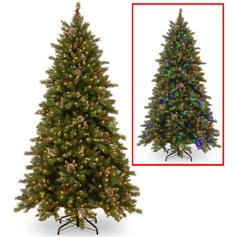 frosted tree lights national tree co 7 5 frosted berry memory hinged