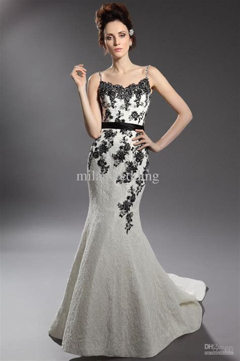 amazing black and white feather wedding dresses fashion