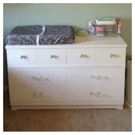 Nursery Changing Table Small White Wooden Changing Table Dresser For Nursery Hutch And Drawers Plus Knobs
