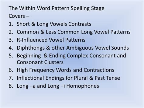 pattern other words for stages of writing spelling development ppt video