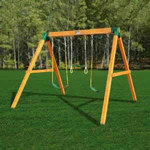 Outdoor Swing Sets Gorilla Playsets 01 0002 Free Standing Swing Set Atg Stores