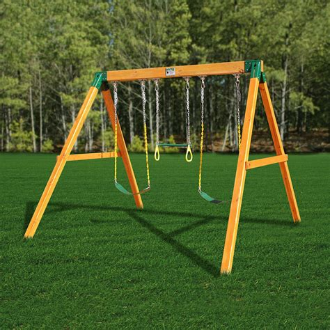 swing set playset gorilla playsets 01 0002 free standing swing set atg stores