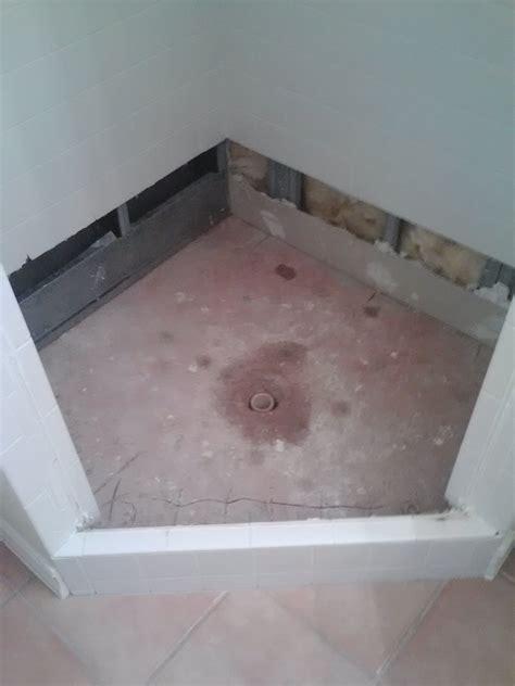 Shower Mud Pan by Shower Pan Leak 101 Moen Brothers Plumbing Drain Llc