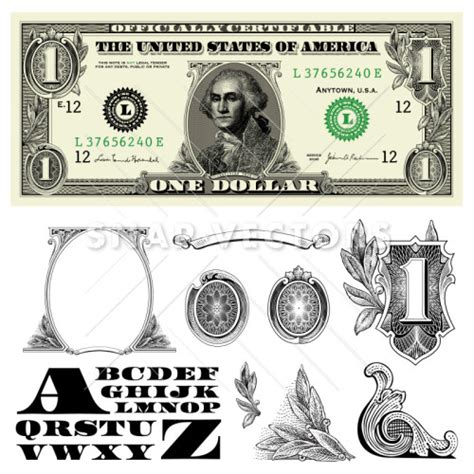 money dollars and design elements vector money and dollar bill elements vector clipart snap vectors