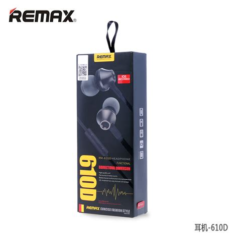 Earphone Remax Mic Rm 610d remax earphone with microphone volume rm 610d