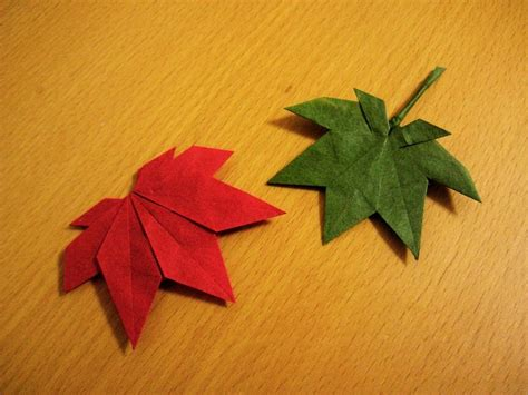 Origami Maple Leaf - 1000 images about origami leaves on origami
