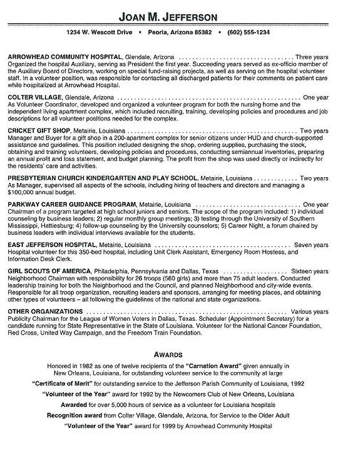 hospital volunteer resume exle check make a resume and resume