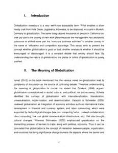 Business Essay Exles by International Business Management Essay Globalization