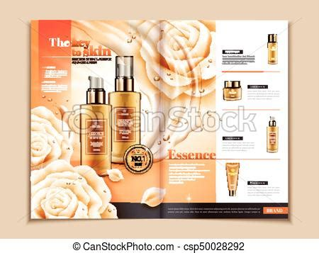 Skin Care Brochure Template Series Of Skincare Products On Magazine Or Catalog For Design Uses Free Skin Care Brochure Templates