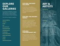 Dark Teal Museum Phlet Tri Fold Brochure Templates By Canva Museum Brochure Template