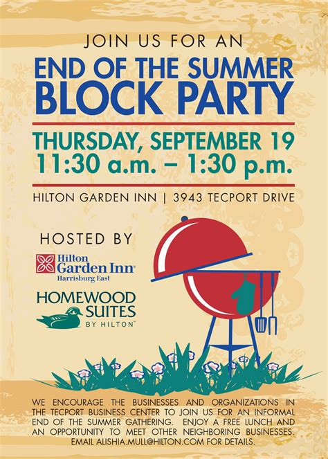 Block Party Invitation For Homewood Suites And Hilton Garden Inn Party Ideas Pinterest And Invite Template