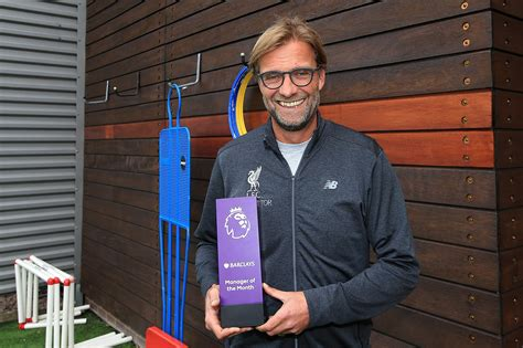 epl manager of the month klopp voted barclays manager of the month