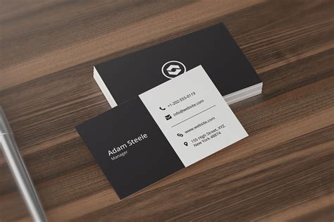 minimal business card template business card templates