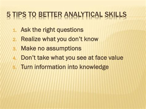 Analytical Abilities Developing Your Analytical Skills