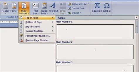 memberi nomor halaman word cara memberi nomor halaman pada ms office word cara internet