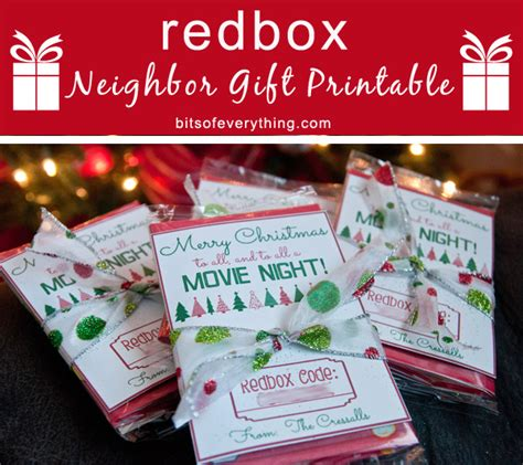 Printable Redbox Gift Cards - redbox gift printable bits of everything