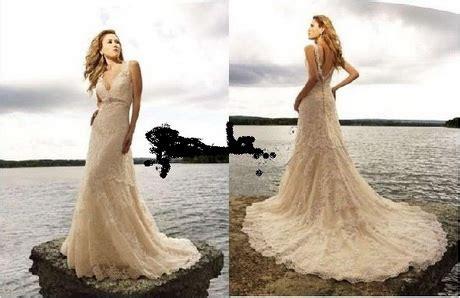 Brautkleider Creme Spitze by Lace Wedding Dress