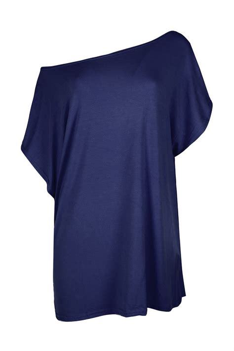 amazon off the shoulder shirts tops tees womens ladies baggy oversized batwing sleeve off the