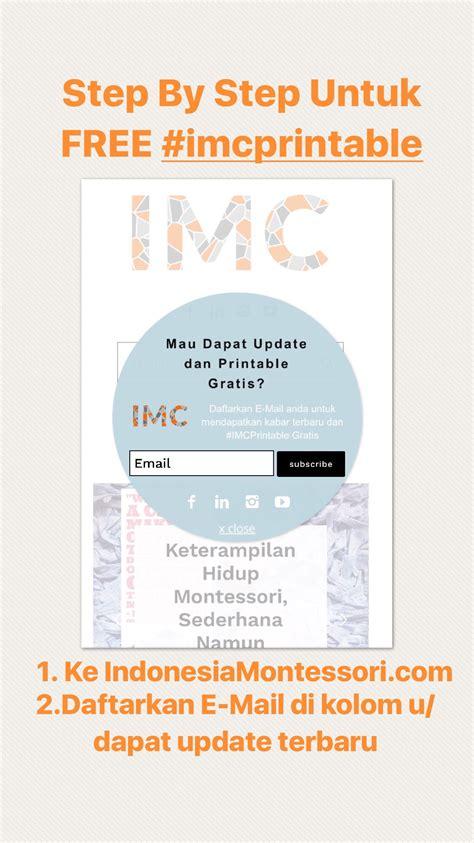 printable gratis indonesiamontessori cara mendapatkan unduh free imcprintable di