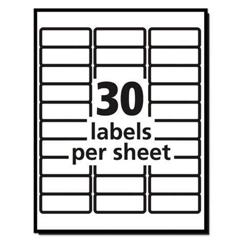 Avery 14 Labels Per Sheet Template by Ave5160 Avery Easy Peel Mailing Address Labels Zuma