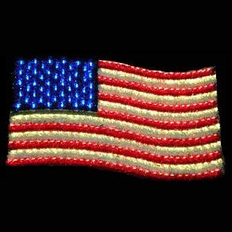 amazoncom lighted led usa flag frontgate home improvement