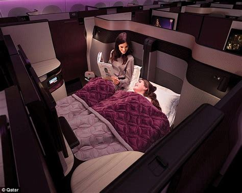 bedroom business qatar airways launches first ever double bed in business