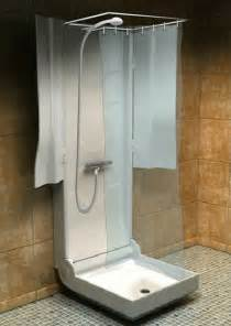 folding shower for small spaces
