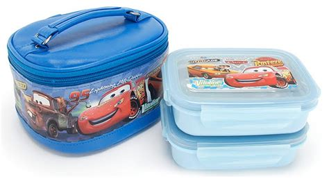 Lunch Box Set Disney Cars my noble baby disney car pixar 2pcs stainless steel lunch box set detachable