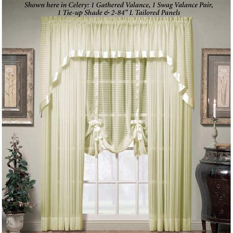 Swag Valances Window Treatments Nimbus Stripe Swag Valance Window Treatment