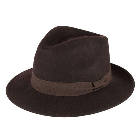 Handmade Wool Hats - 100 wool felt fedora hat with grosgrain band handmade in