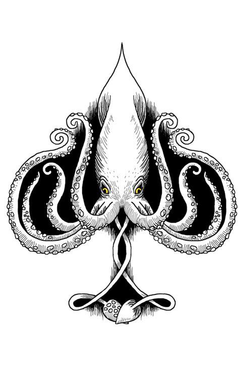 squid ace of spades by mallanaga on deviantart
