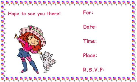 printable children s party invitations free printable birthday invitations 8 coloring kids
