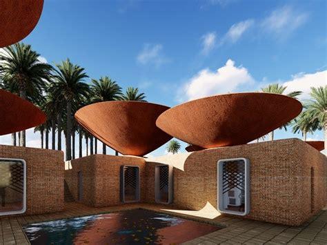architects design innovative bowl roofs  rainwater